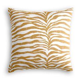 Gold Zebra Print Euro Sham