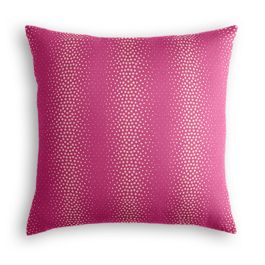 Hot Pink Dotted Stripe Euro Sham