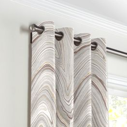 Light Gray Marble Grommet Curtains Close Up