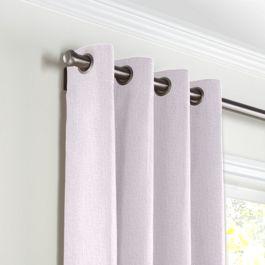 Light Purple Linen Grommet Curtains Close Up