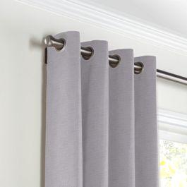 Purple Linen Grommet Curtains Close Up