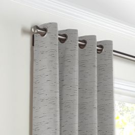 Gray Marled Grommet Curtains Close Up