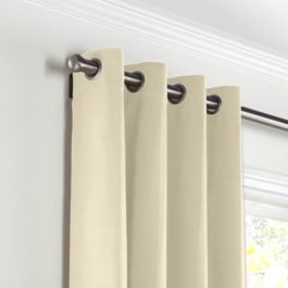 Cream Sunbrella® Canvas Grommet Curtains Close Up