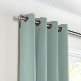 Seafoam Sunbrella® Canvas Grommet Curtains Close Up