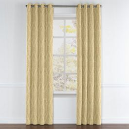 Ivory Medallion Trellis Grommet Curtains Close Up