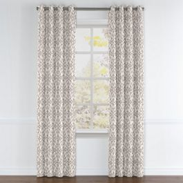 Gray Moroccan Trellis Grommet Curtains Close Up