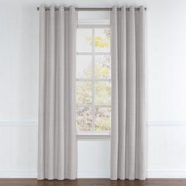 Purple Gray Slubby Linen Grommet Curtains Close Up