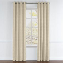 Metallic Gold Shagreen Grommet Curtains Close Up