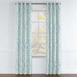 Aqua Blue Watercolor Grommet Curtains Close Up