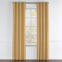 Metallic Gold Linen Grommet Curtains Close Up