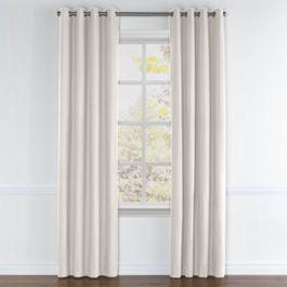Natural Diamond Weave Grommet Curtains Close Up