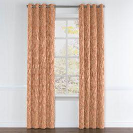 Tribal Orange Diamond Grommet Curtains Close Up