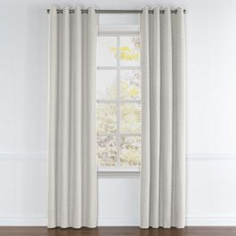 White Mini Diamond Grommet Curtains Close Up
