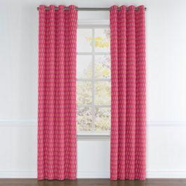 Pink & Orange Diamond Grommet Curtains Close Up