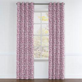 Seafoam & Purple Scallop Grommet Curtains Close Up