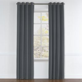 Warm Gray Velvet Grommet Curtains Close Up