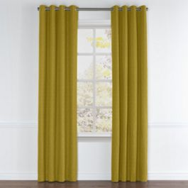 Chartreuse Green Velvet Grommet Curtains Close Up