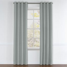 Light Gray Velvet Grommet Curtains Close Up