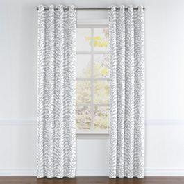 Light Gray Zebra Print Grommet Curtains Close Up
