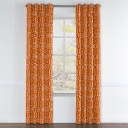 Burnt Orange Diamond Grommet Curtains Close Up