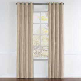 Dark Beige Geometric Arrow Grommet Curtains Close Up