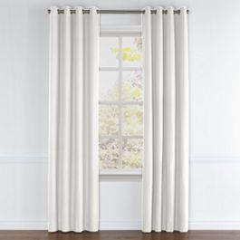 Light Beige Linen Grommet Curtains Close Up