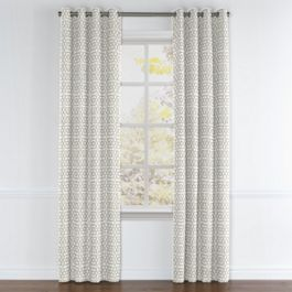 Light Gray Trellis Grommet Curtains Close Up
