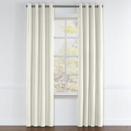 White Sunbrella® Canvas Grommet Curtains Close Up