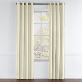 Ivory Sunbrella® Canvas Grommet Curtains Close Up