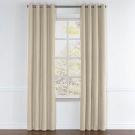 Tan Sunbrella® Canvas Grommet Curtains Close Up