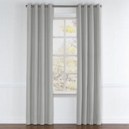 Flecked Gray Sunbrella® Canvas Grommet Curtains Close Up