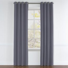 Gray Sunbrella® Canvas Grommet Curtains Close Up