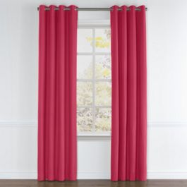 Hot Pink Sunbrella® Canvas Grommet Curtains Close Up