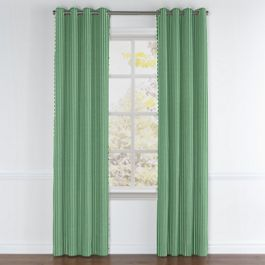 Emerald Green Thin Stripe Grommet Curtains Close Up