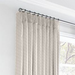 Gray Diamond Pintuck Euro Pleated Curtains Close Up