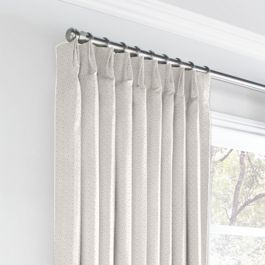 Natural Diamond Weave Euro Pleated Curtains Close Up