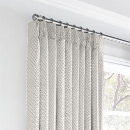 White Mini Diamond Euro Pleated Curtains Close Up