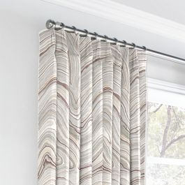 Light Gray Marble Euro Pleated Curtains Close Up