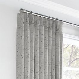 Gray Marled Euro Pleated Curtains Close Up