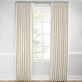 Ivory Slubby Linen Euro Pleated Curtains Close Up