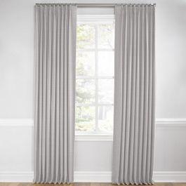 Purple Gray Slubby Linen Euro Pleated Curtains Close Up