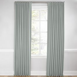 Gray Slubby Linen Euro Pleated Curtains Close Up