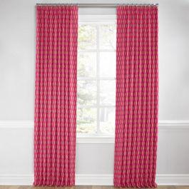 Pink & Orange Diamond Euro Pleated Curtains Close Up