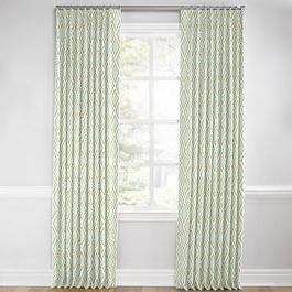 Light Aqua Diamond Euro Pleated Curtains Close Up