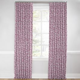 Seafoam & Purple Scallop Euro Pleated Curtains Close Up