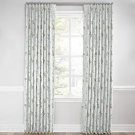 Gray Koi Fish Euro Pleated Curtains Close Up