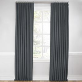 Warm Gray Velvet Euro Pleated Curtains Close Up