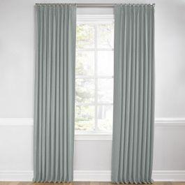 Light Gray Velvet Euro Pleated Curtains Close Up