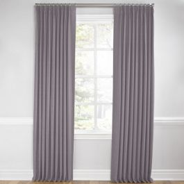 Lavender Gray Velvet Euro Pleated Curtains Close Up