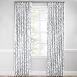 Light Gray Zebra Print Euro Pleated Curtains Close Up